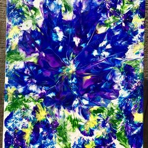 Abstract Flower Painting, Hand Painted